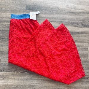 ❤️STUNNING❤️ 2X Lularoe Lucy red lace maxi skirt